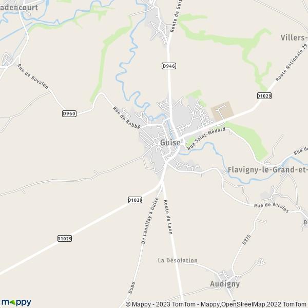 Carte Tomtom Madagascar.Plan Guise Carte De Guise 02120 Et Infos Pratiques