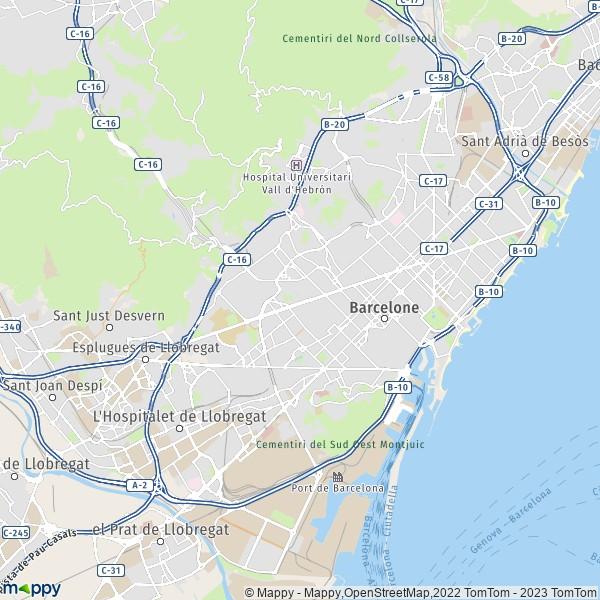Carte De Barcelone Et Ses Environs.Plan Barcelone Carte De Barcelone 08001 Et Infos Pratiques