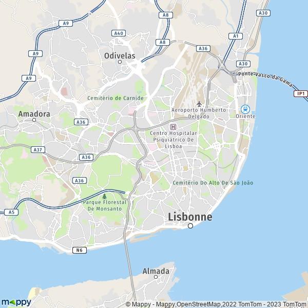 Plan De Lisbonne Carte