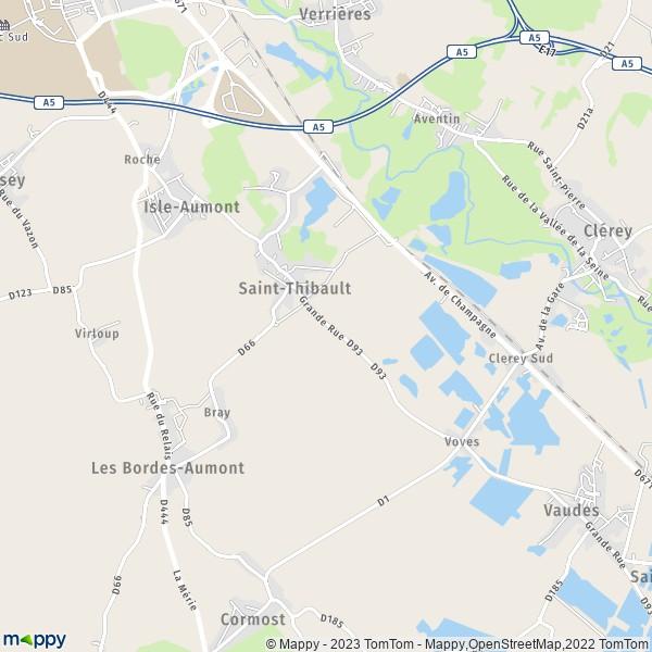 Plan saint thibault carte de saint thibault 10800 et infos pratiques - Thibault chanel vie privee ...
