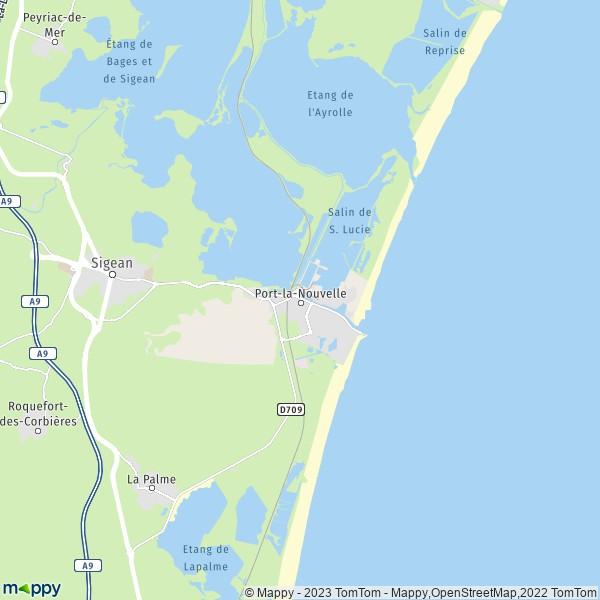 plan port la nouvelle carte de port la nouvelle 11210 et infos pratiques