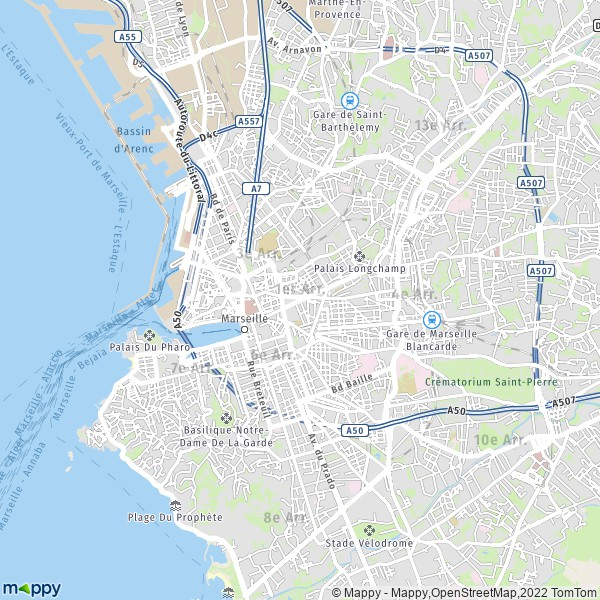plan de 1er Arrondissement, Marseille, carte de 1er Arrondissement, Marseille