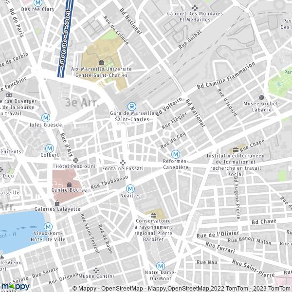 plan de 1er Arrondissement Marseille, carte de 1er Arrondissement Marseille