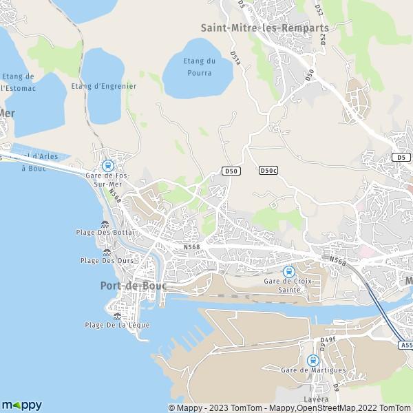 plan port de bouc carte de port de bouc 13110 et infos
