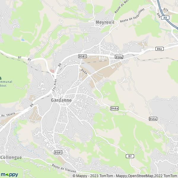 plan de Gardanne, carte de Gardanne