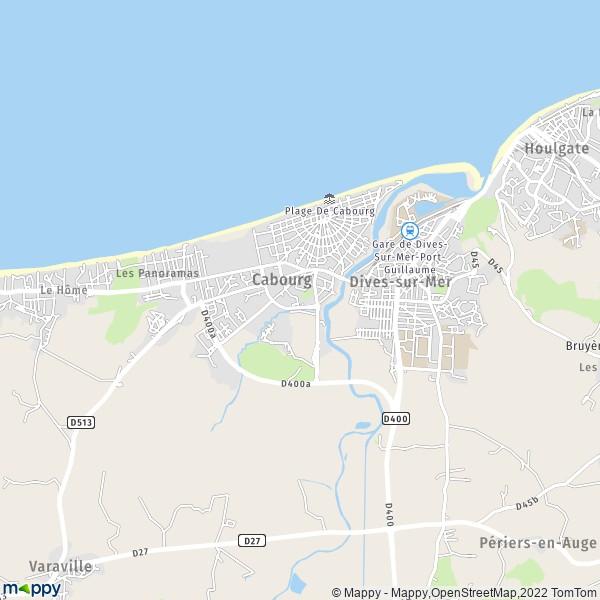 plan de Cabourg, carte de Cabourg