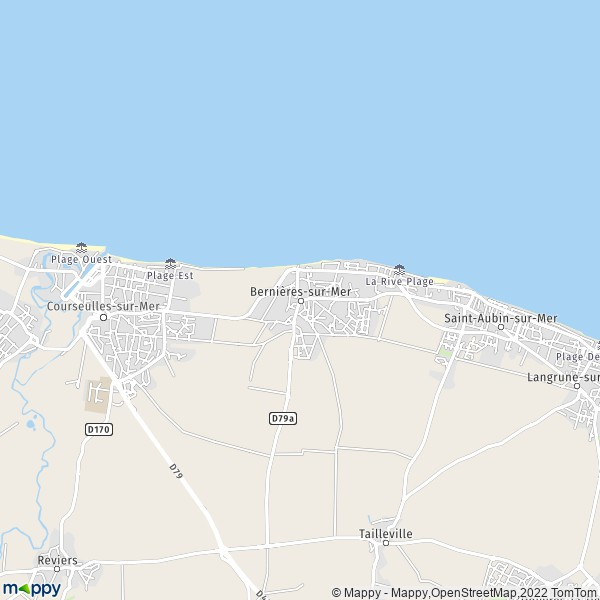 Plan bernieres sur mer carte de bernieres sur mer 14990 - Office de tourisme bernieres sur mer ...