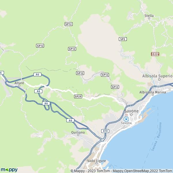 Carte Italie Savone.Plan Savone Carte De Savone 17100 Et Infos Pratiques