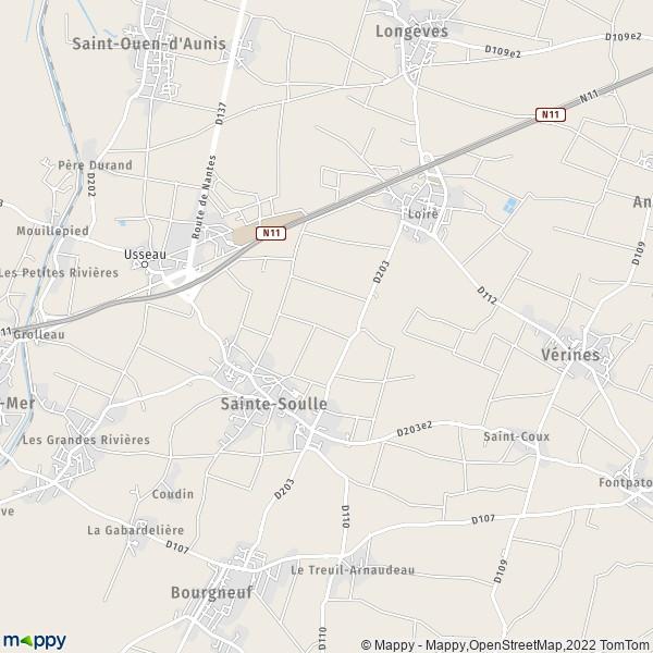plan de Sainte-Soulle, carte de Sainte-Soulle