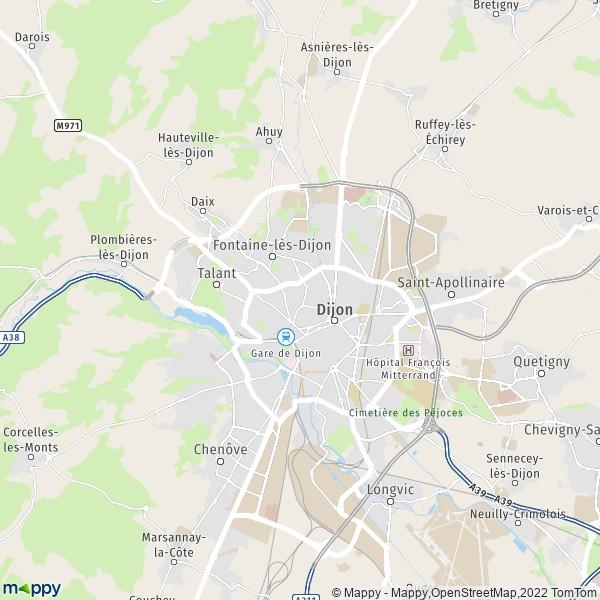 Plan Dijon Carte De Dijon 21000 Et Infos Pratiques