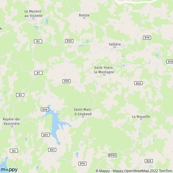 Plan Saint Yrieix La Montagne Carte De Saint Yrieix La