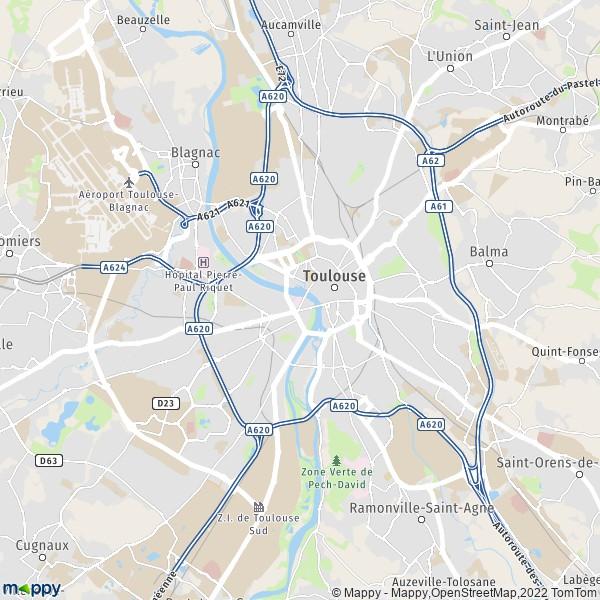plan de Toulouse, carte de Toulouse