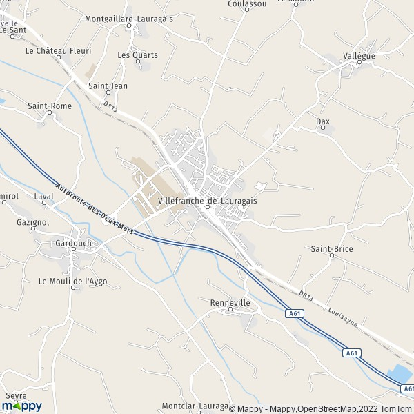 Plan villefranche de lauragais carte de villefranche de for Piscine villefranche de lauragais