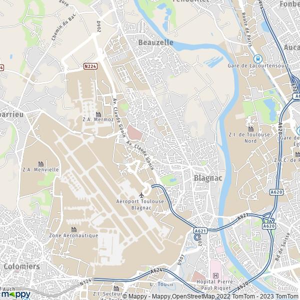 plan de Blagnac, carte de Blagnac