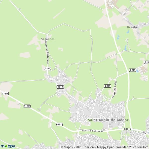 plan de Saint-Aubin-de-Médoc, carte de Saint-Aubin-de-Médoc