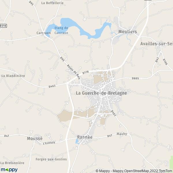 plan de La Guerche-de-Bretagne, carte de La Guerche-de-Bretagne