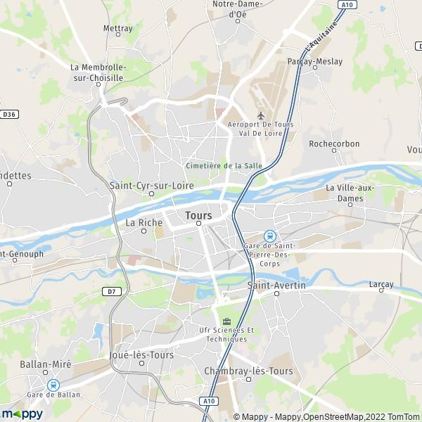Plan tours carte de tours 37000 et infos pratiques - Piscine jean boiteux paris ...