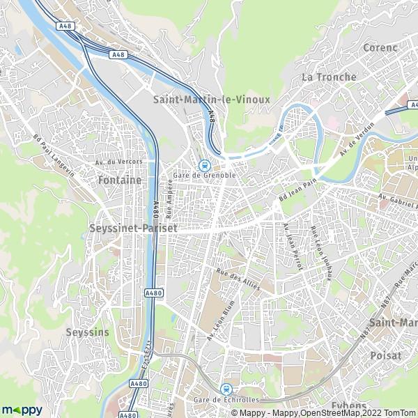 Plan De Grenoble Carte