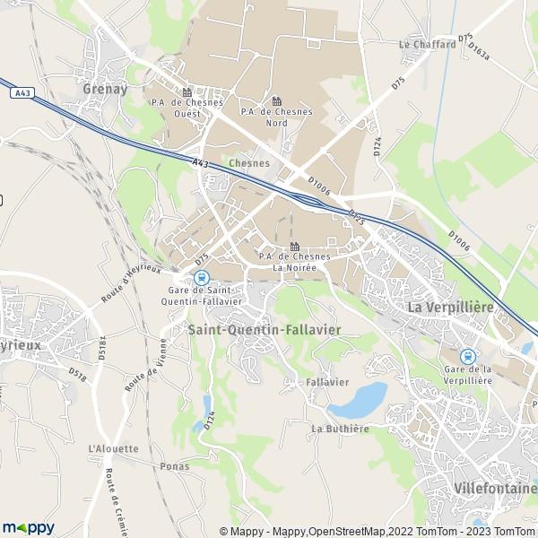 plan de Saint-Quentin-Fallavier, carte de Saint-Quentin-Fallavier