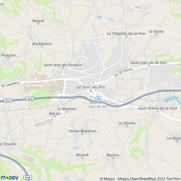 plan de La Tour-du-Pin, carte de La Tour-du-Pin