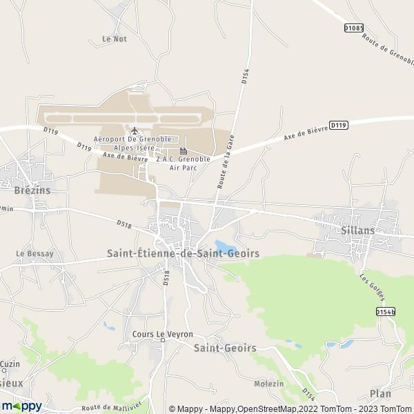 plan saint etienne de saint geoirs carte de saint etienne de saint geoirs 38590 et infos. Black Bedroom Furniture Sets. Home Design Ideas