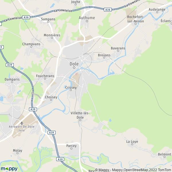 plan de Dole, carte de Dole