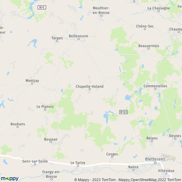 Plan Chapelle Voland Carte De Chapelle Voland 39140 Et Infos