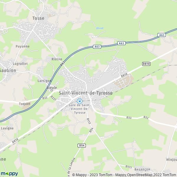 Gyn cologue saint vincent de tyrosse 40230 mappy - Piscine saint vincent de tyrosse ...