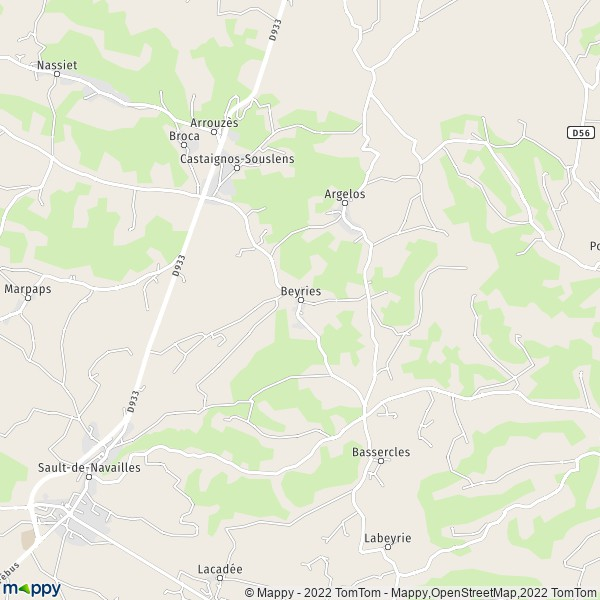 plan de Beyries, carte de Beyries