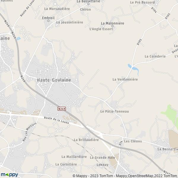 plan de Haute-Goulaine, carte de Haute-Goulaine