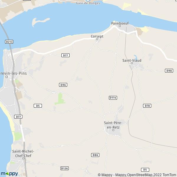 plan de Saint-Père-en-Retz, carte de Saint-Père-en-Retz