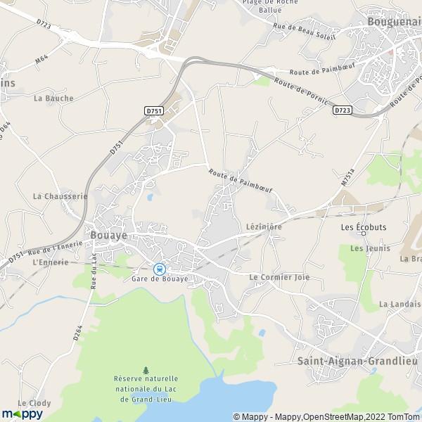 Bouaye France  City new picture : Plan Bouaye : carte de Bouaye 44830 et infos pratiques