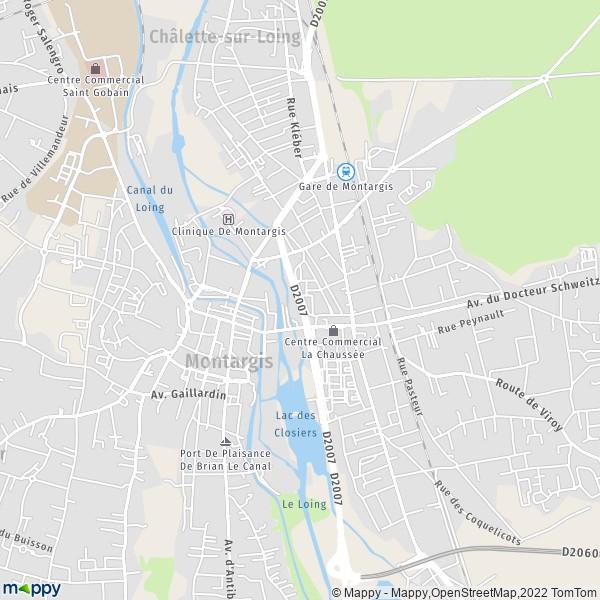 Plan montargis carte de montargis 45200 et infos pratiques for Plan de montargis