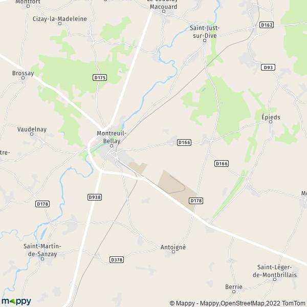 Era Mairie De Montreuil Montreuil: Plan Montreuil-Bellay : Carte De Montreuil-Bellay (49260
