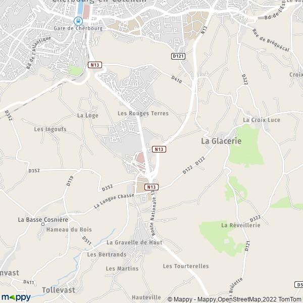 Plan cherbourg-en-cotentin : carte de cherbourg-en-cotentin (50470) et infos pratiques