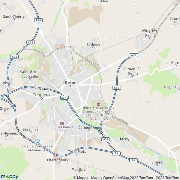 Centre Ville Reims Itineraire