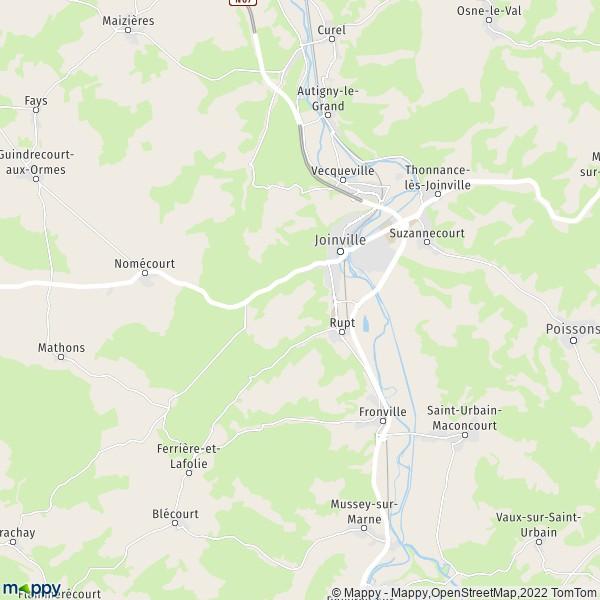 Plan joinville carte de joinville 52300 et infos pratiques for 52300