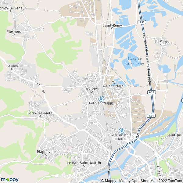 plan de Woippy, carte de Woippy