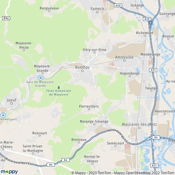 plan de Amnéville, carte de Amnéville