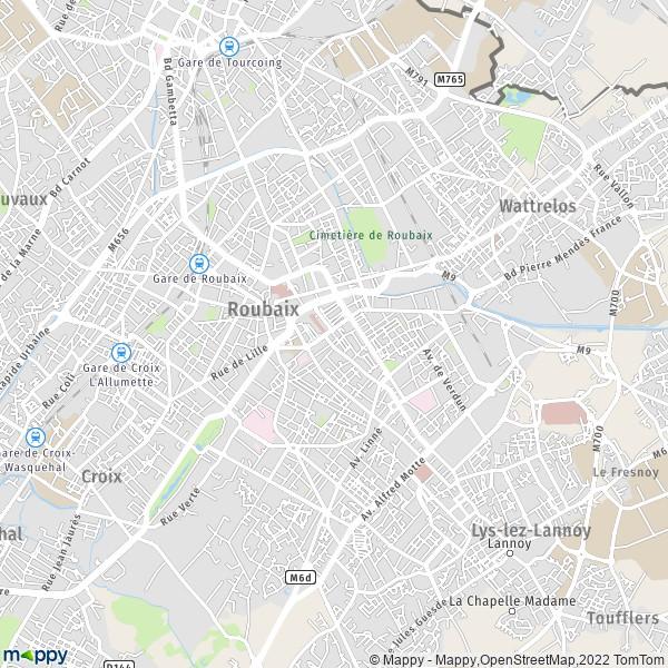 Plan Roubaix Carte De Roubaix 59100 Et Infos Pratiques