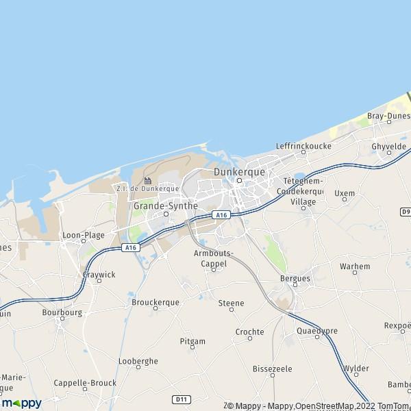 Plan Dunkerque   Carte De Dunkerque  59140  Et Infos Pratiques