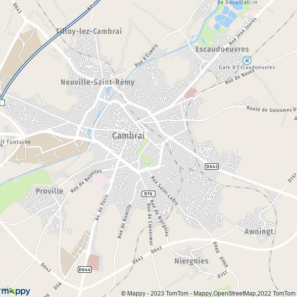 plan de Cambrai, carte de Cambrai
