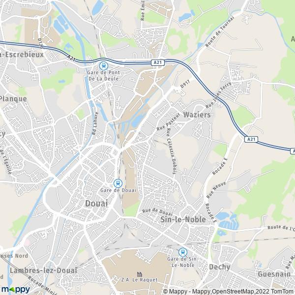 plan de Douai, carte de Douai