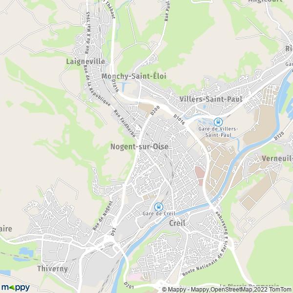 plan de Nogent-sur-Oise, carte de Nogent-sur-Oise