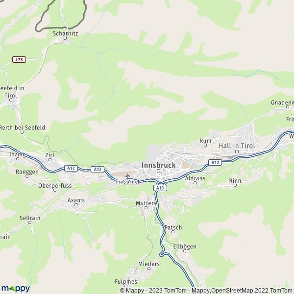 Plan Innsbruck : carte de Innsbruck (6020) et infos pratiques