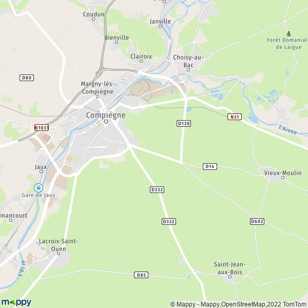 plan de Compiègne, carte de Compiègne