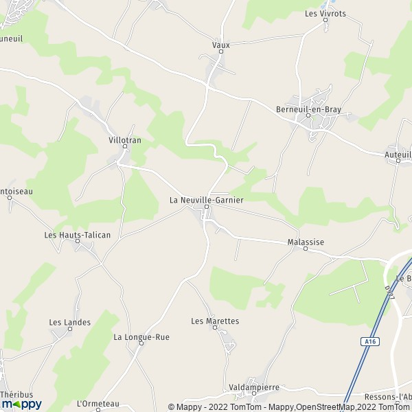Plan De La Ville De Courdimanche