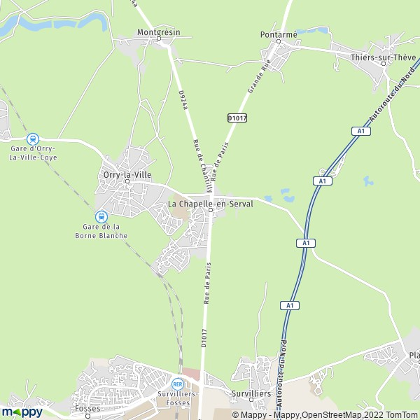 Plan La Chapelle-en-Serval : carte de La Chapelle-en-Serval (60520) et  infos pratiques
