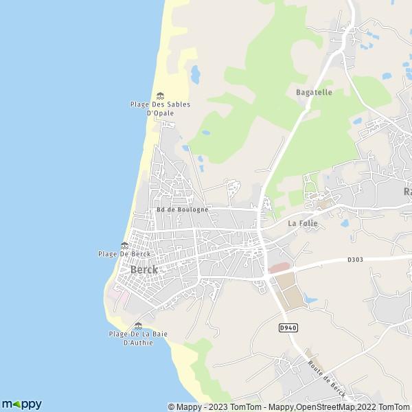 berck sur mer carte Plan berck : carte de berck (62600) et infos pratiques