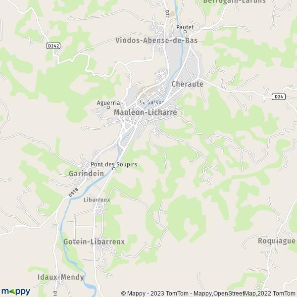 plan de Mauléon-Licharre, carte de Mauléon-Licharre